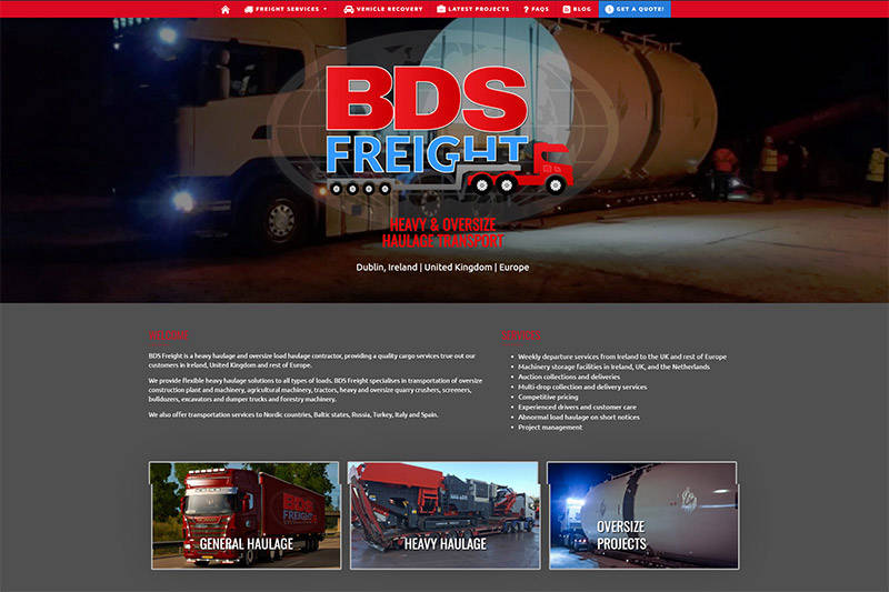 BDS Freight, Inc. | Heavy Hauling Transportation