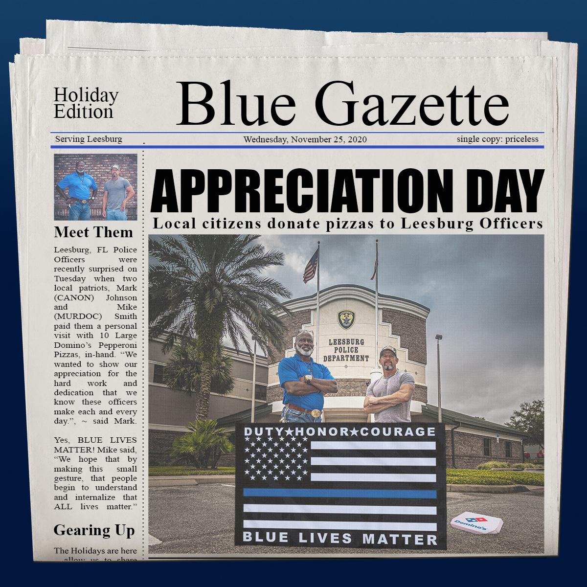 Blue Lives Matter Newspaper Mockup